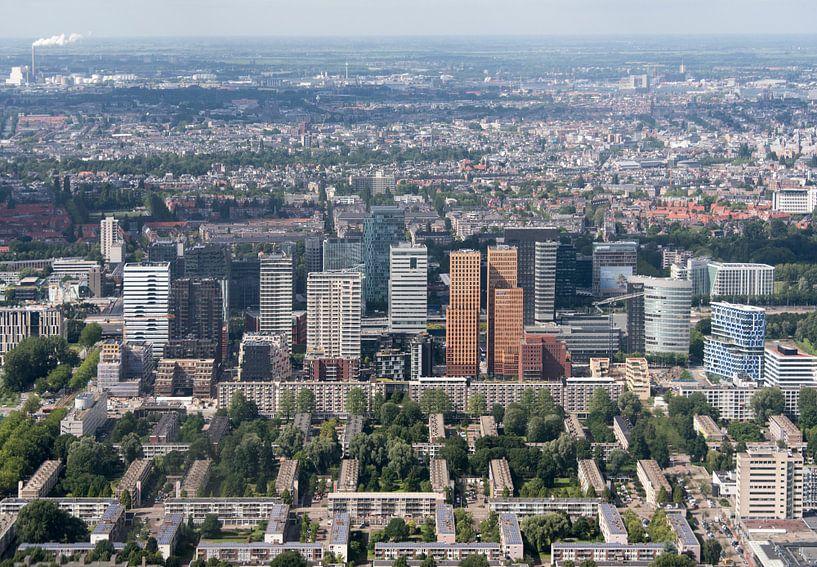 Luchtfoto Zuid As Amsterdam van Marcel van Balken