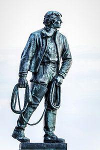 Moedig redder van schipbreukelingen (Frans Naerebout)