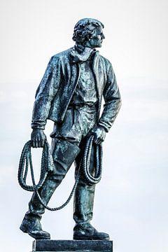 Moedig redder van schipbreukelingen (Frans Naerebout) van Fotografie Jeronimo