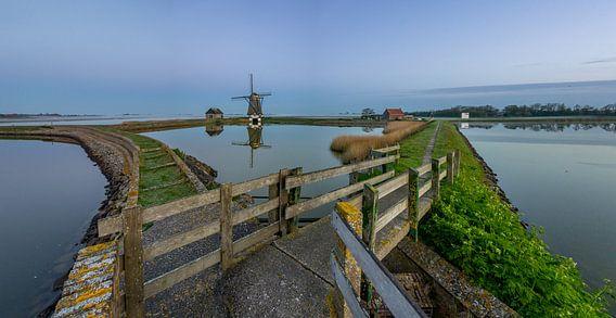 Mirror mirror - Molen het Noorden - Texel van Texel360Fotografie Richard Heerschap