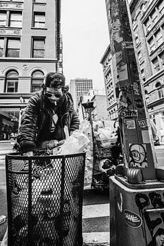 Wanderer in New York, China Town (2:3) von Lolke Bergsma