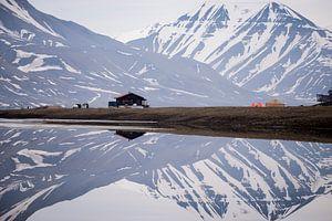 Camping in spiegelbeeld van