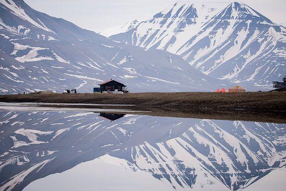 Camping in spiegelbeeld