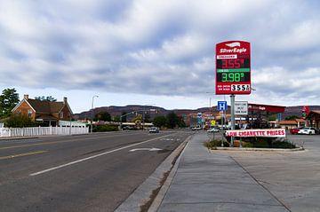 Benzinepomp in USA van