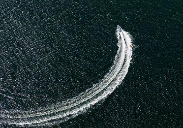 Speedbootje op het grevelingenmeer van Sky Pictures Fotografie