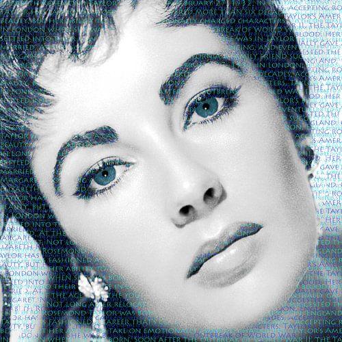 Elizabeth Taylor double blue