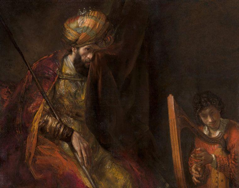 Saul und David, Rembrandt van Rijn  von Rembrandt van Rijn