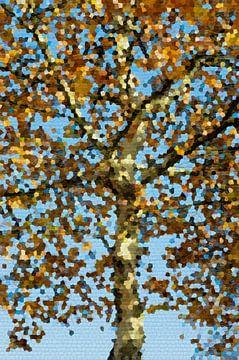 Gouden boom van Diana Mets