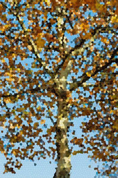 Gouden abstracte boom van Diana Mets