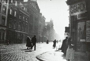Straßenansicht in Rotterdam, George Hendrik Breitner, ca. 1890 - ca. 1910