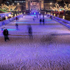 Rijksmuseum Amsterdam met schaatsers HDR van Wouter Sikkema