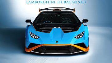 Lamborghini Huracán STO met tekst