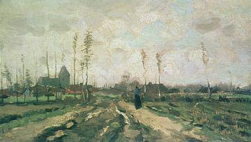 Landschap met kerk en huizen, Nuenen, Vincent van Gogh