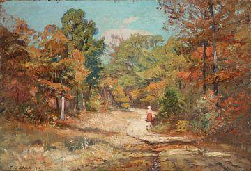 T C. Steele (Amerikaner, 1847-1926)~Auf der Straße nach Belmont