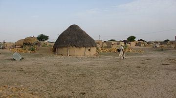 Dorp in de Thar Desert - India  von Gerrit  De Vries