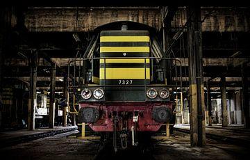 Verlaten treinremise van