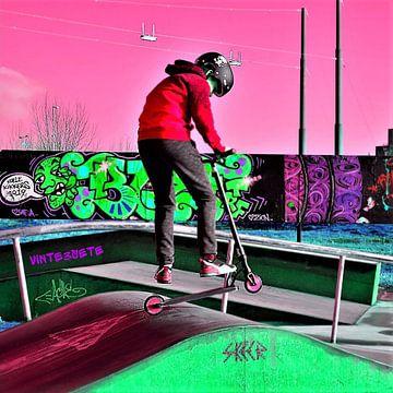 Scooter en Graffiti van Vinte3Sete