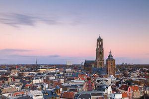 Utrecht - Kleurrijke zonsondergang van