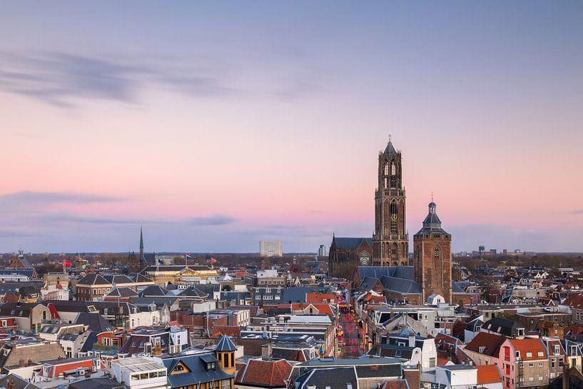 Utrecht - Kleurrijke zonsondergang van Thomas van Galen
