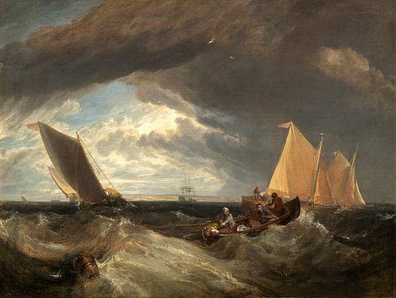 de kruising van de Theems en de Medway, Joseph Mallord William Turner van Liszt Collection