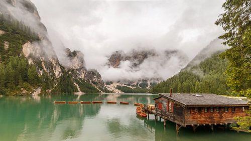 Pragser Wildsee in den Dolomiten.