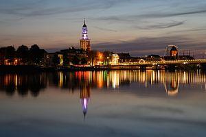 Zicht op kampen over de IJssel