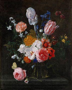 Blumenstrauß in einer Kristallvase, Nicolaes van Veerendael von Meesterlijcke Meesters