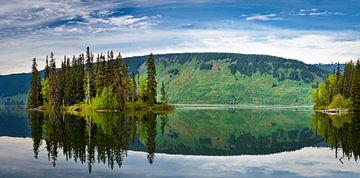 Spiegeling, Meziadin Lake, Brits Columbia, Canada van Rietje Bulthuis