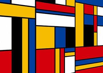 Piet Mondriaan perspectief van Marion Tenbergen