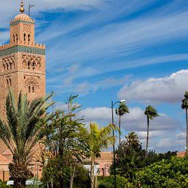 Marrakesh Koutoubia-moskee van marco de Jonge