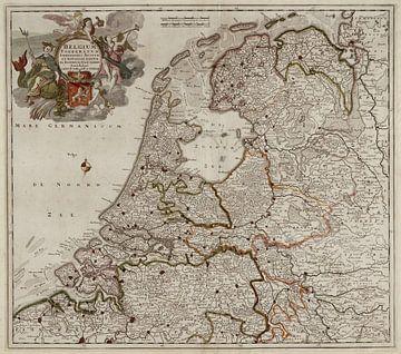 Belgium foederatum / Kaart van Nederland sur