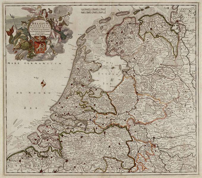 Belgium foederatum / Kaart van Nederland van Rebel Ontwerp