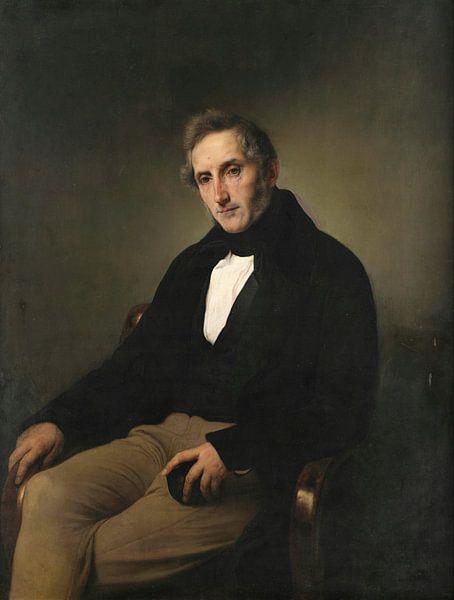 Porträt von Alessandro Manzoni, Francesco Hayez von Meesterlijcke Meesters