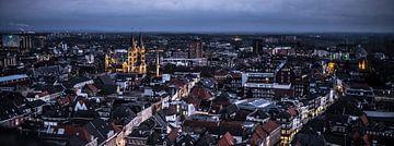 Avond Stadsuitzicht centrum Roermond Limburg Nederland van Margriet Cloudt