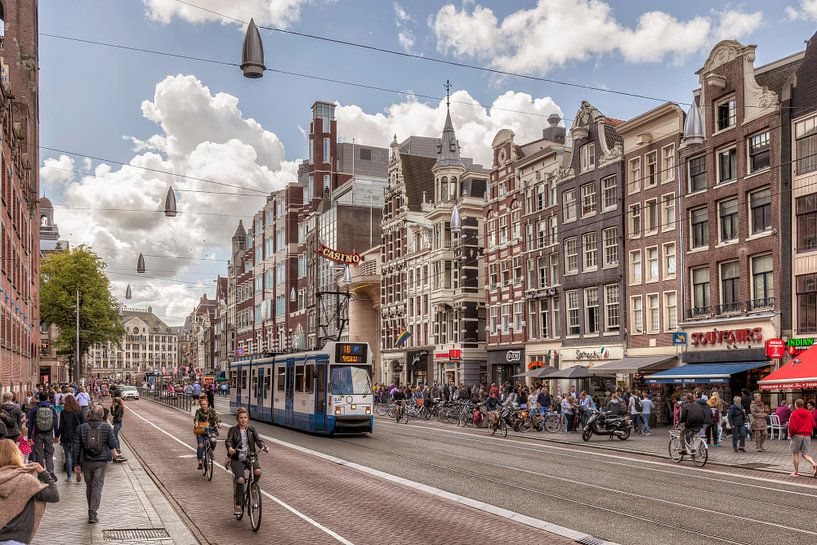 HDR van Damrak in Amsterdam van John Kreukniet