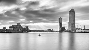 De Rijnhaven Rotterdam (Zwart wit)