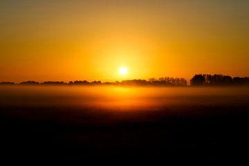 Sonnenaufgang in den Niederlanden von Sharona de Wolf