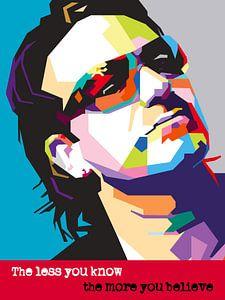 Pop Art Bono - U2 van