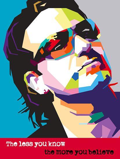 Pop Art Bono - U2 van Jan Willem van Doesburg