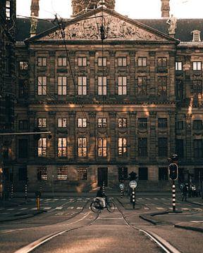 Rathausstraße am Morgen von Sam ter Veer