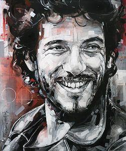 Bruce Springsteen schilderij van Jos Hoppenbrouwers