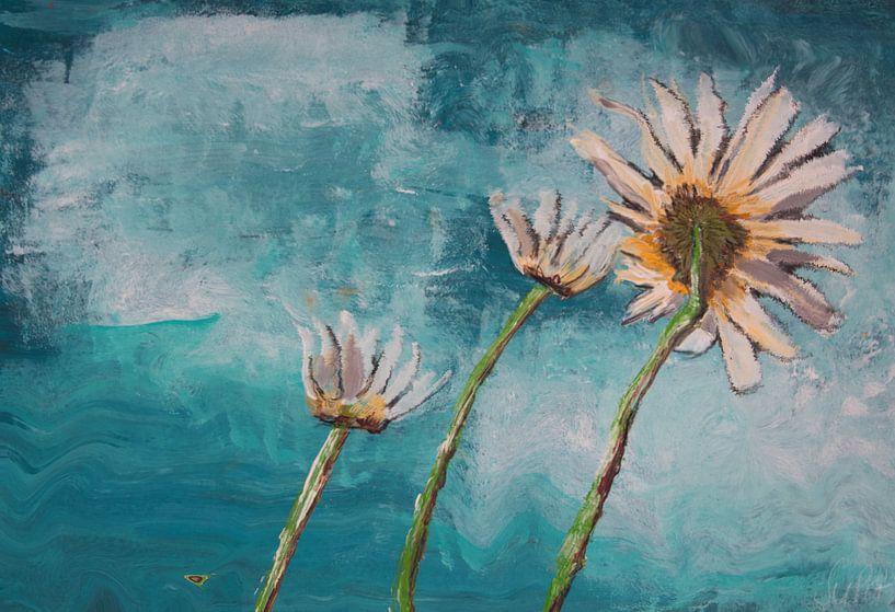 Good Morning Flower Türkis von Susanne A. Pasquay