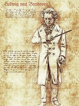 Ludwig van Beethoven van Printed Artings