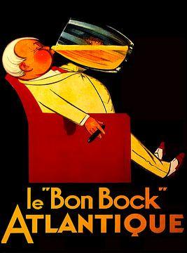 """Französische Vintage-Bierwerbung """"Le Bon Bock"""" von Zeger Knops"""