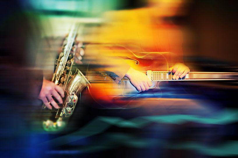 musique de jazz dans un café sur Ariadna de Raadt-Goldberg