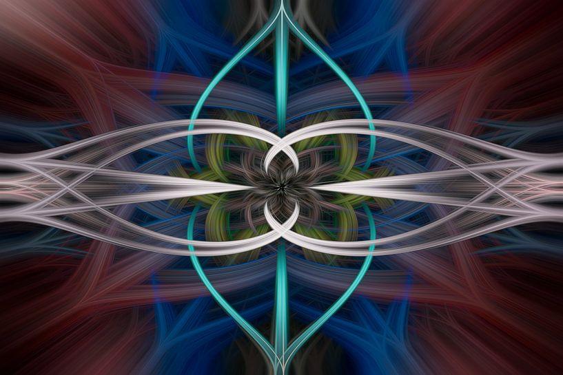 Digital abstract nr 2 van Leo Luijten