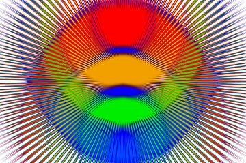Kleuren stralen van