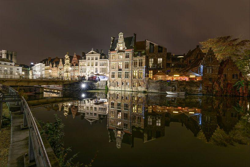 Gent bij nacht van Gea Gaetani d'Aragona