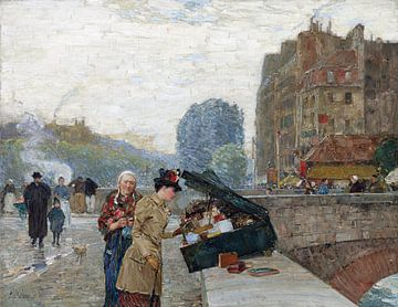 Childe Hassam, St.-Michel-Kai (Paris), 1888