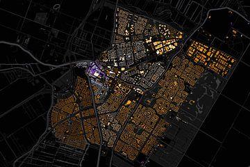 Kaart van Purmerend abstract sur Stef Verdonk